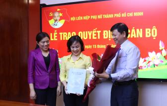 Trao quyết định chuẩn y tân Chủ tịch Hội LHPN quận 9 và quận 11