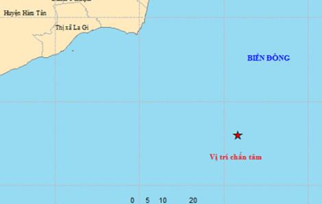 Động đất ngoài khơi vùng biển Bình Thuận không đáng lo ngại