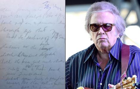"""Lời bài hát """"Vincent"""" của Don McLean được rao bán với giá gần 35 tỷ đồng"""