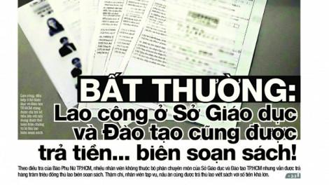 Người nấu ăn của Sở GD-ĐT TPHCM được trả thù lao biên soạn sách là có thật