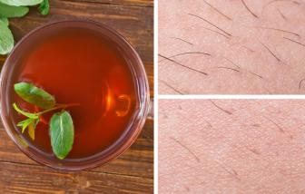 Tẩy lông an toàn bằng trà hoa cúc, nước chanh