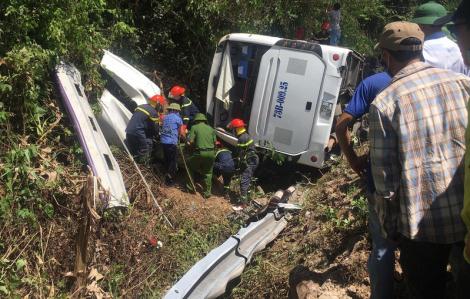 13 người tử vong, 27 người bị thương nặng trong vụ tai nạn xe khách tại cầu Trạ Ang