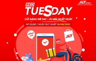 """Chuyển phát nhanh J&T Express tung siêu khuyến mãi ngày """"Red Tuesday"""" 4/8"""
