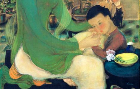 Bức tranh triệu USD đầu tiên của Việt Nam là tác phẩm về gia đình