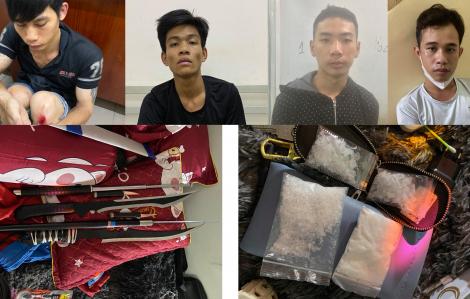 Tạm giữ hình sự nhiều đối tượng cướp tài sản, tàng trữ trái phép chất ma túy