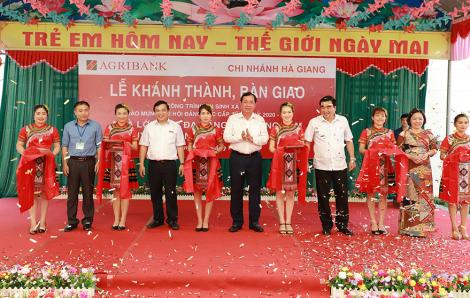 Khánh thành các công trình chào mừng Đại hội Đảng bộ Agribank lần thứ X, nhiệm kỳ 2020 - 2025