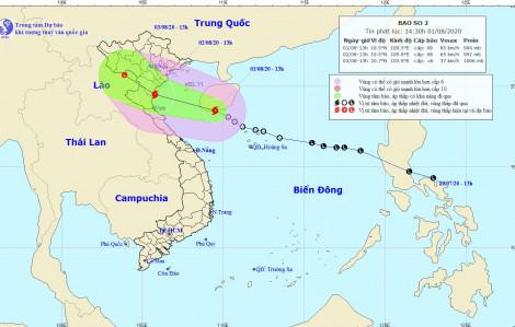 Áp thấp nhiệt đới đã mạnh thành bão số 2 Sinlaku