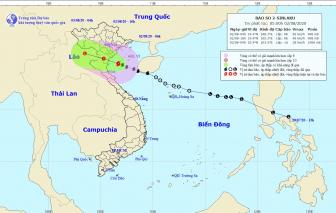 Bão số 2 hướng vào đất liền các tỉnh Ninh Bình - Nghệ An
