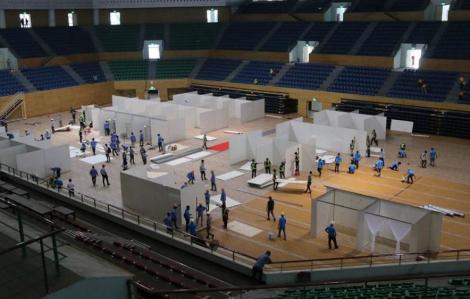 Đà Nẵng gấp rút xây dựng cơ sở điều trị COVID-19 tại Cung thể thao Tiên Sơn