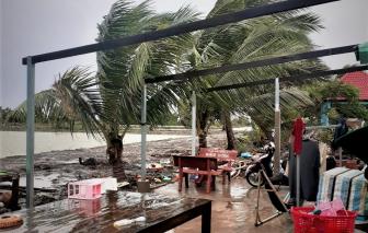 Bão số 2 gây sập, hư hại nặng hơn 400 căn nhà ở Kiên Giang
