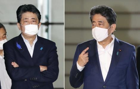 """Thủ tướng Nhật ngừng đeo loại khẩu trang """"tí hon"""" do chính phủ cấp"""