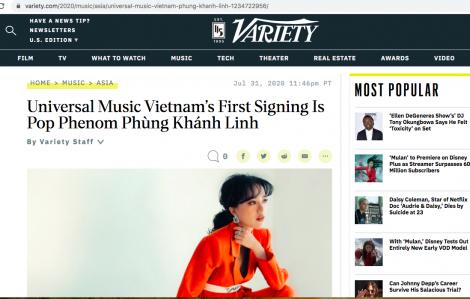 """Tạp chí giải trí Mỹ gọi Phùng Khánh Linh là """"hiện tượng nhạc Pop Việt Nam"""""""
