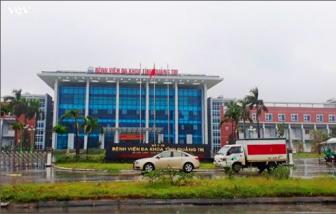 Phong tỏa một tầng Bệnh viện đa khoa Quảng Trị để chống dịch COVID-19