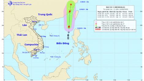 Áp thấp nhiệt đới trên Biển Đông mạnh lên thành bão số 3, miền Nam có mưa giông