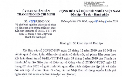 Giám đốc Sở GD-ĐT TPHCM bị phê bình vì tổ chức đoàn đi công tác Nhật Bản