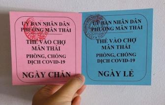 Đà Nẵng bắt đầu phát thẻ xanh/đỏ cho người dân vào chợ