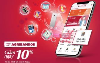 Giảm ngay 100.000 đồng khi mua sắm trực tuyến trên ứng dụng Agribank E-Mobile Banking