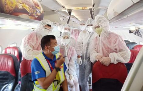 Vietjet thực hiện chuyến bay hỗ trợ hành khách mắc kẹt tại Đà Nẵng về Hà Nội, TP.HCM