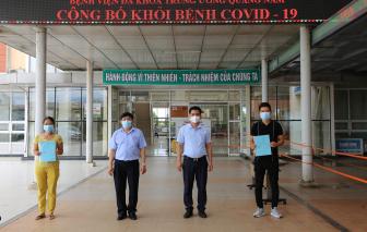 Hai bệnh nhân COVID-19 ở Quảng Nam nhập viện và xuất viện cùng ngày