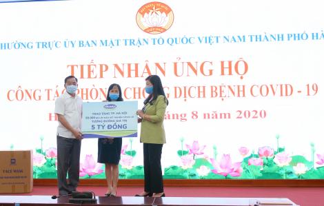Vinamilk ủng hộ 8 tỷ đồng cho Hà Nội và ba tỉnh thành miền Trung chiến đấu chống dịch COVID-19
