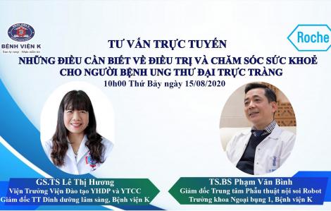Bệnh viện K tư vấn trực tuyến điều trị ung thư với sự đồng hành của Roche Việt Nam