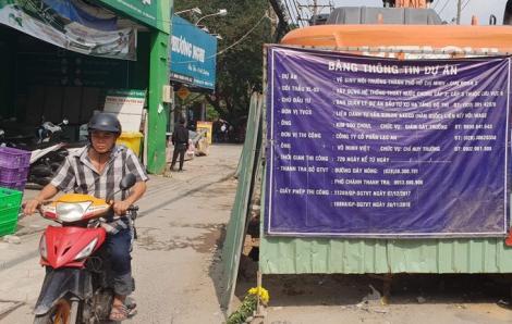 TPHCM: Dự án vệ sinh môi trường nước gây mất an toàn giao thông