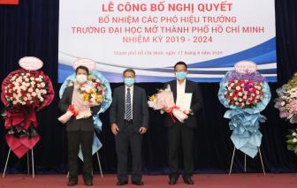 Trường ĐH Mở TPHCM có thêm hai phó hiệu trưởng