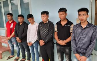 Triệu tập 2 nhóm thanh niên cầm hung khí hỗn chiến