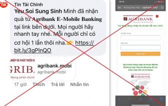 Agribank tiếp tục cảnh báo khách hàng các chiêu thức lừa đảo trực tuyến