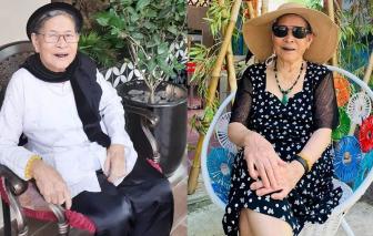 Cụ bà 90 tuổi nhuộm răng đen, vấn khăn, ăn trầu, rộn ràng chơi Facebook