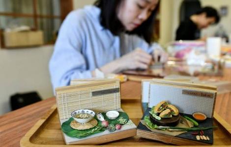 Cô gái trẻ Việt Nam làm đồ ăn tí hon được giới thiệu trên báo nước ngoài