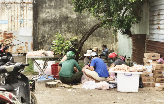 """Chợ """"bẩn"""" vây quanh các chợ đầu mối thực phẩm"""