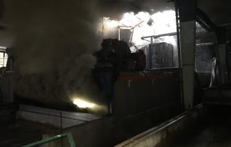 Bình Phước: Lửa thiêu rụi lò sấy nhà máy chế biến mủ cao su trong đêm