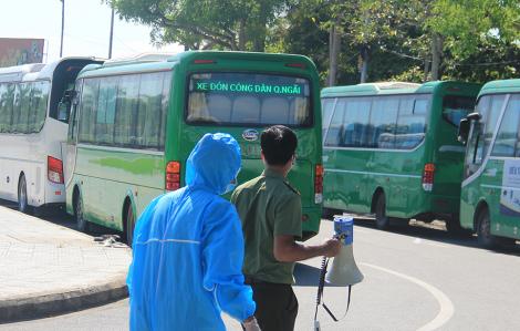 Gần 700 người Quảng Ngãi ở vùng dịch Đà Nẵng về quê