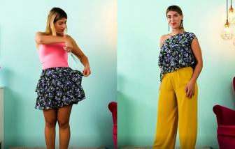 Clip: Cắt quần, chân váy cũ thành áo kiểu mới điệu đà
