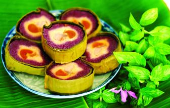 Bánh tét lá cẩm - món ngon miền Tây lên báo quốc tế