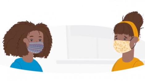 Clip: Cách đeo khẩu trang vải an toàn trước virus gây bệnh COVID-19
