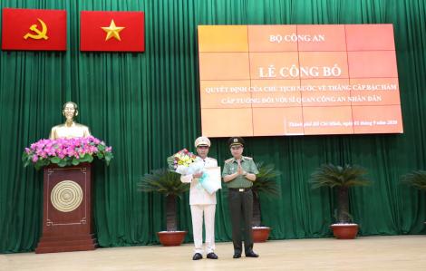 Phó giám đốc Công an TPHCM Cao Đăng Hưng được thăng hàm thiếu tướng