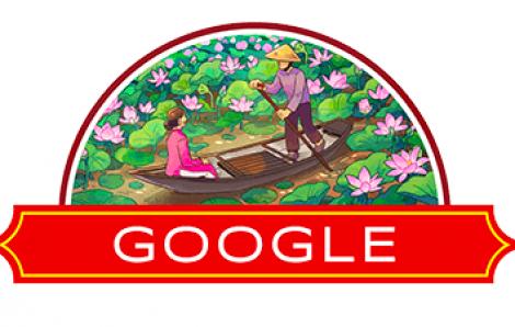 Google Doodle đổi hình hoa sen nhân ngày Quốc khánh Việt Nam