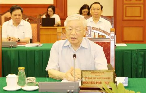 Tổng bí thư, Chủ tịch nước chủ trì buổi làm việc với Ban Thường vụ Thành ủy TPHCM