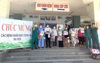 Bé gái 20 tháng tuổi và 13 bệnh nhân tại Đà Nẵng khỏi COVID-19, xuất viện