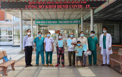 Cụ ông 90 và cháu bé 6 tuổi mắc COVID-19 ở Quảng Nam xuất viện