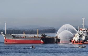 1 thuyền viên mất tích sau vụ nổ tàu chở dầu trên biển Quảng Ngãi