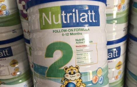 Nhiều lô sữa Nutrilatt bị cảnh báo có hàm lượng sắt và kẽm thấp hơn công bố