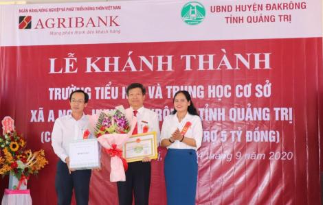 Agribank bàn giao Trường tiểu học và trung học cơ sở xã A Ngo, huyện Đakrông, tỉnh Quảng Trị