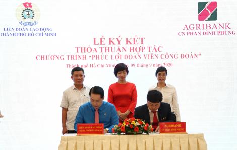 Agribank Chi nhánh Phan Đình Phùng ký kết thỏa thuận hợp tác với Liên đoàn Lao động TP.HCM