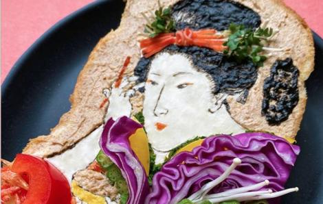 Những tác phẩm nghệ thuật độc đáo trên... lát bánh mì nướng