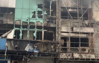 Cháy 2 căn nhà tại TPHCM, trong đó 1 căn là chi nhánh ngân hàng Eximbank ở Gò Vấp