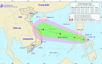 Dự báo áp thấp tại biển Đông có khả năng mạnh lên thành bão