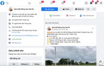 Đề nghị xử lý thông tin rao bán đất nền không đúng quy định trên zalo, facebook